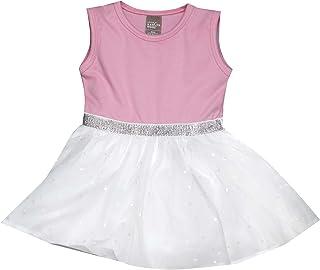 Little Kangaroos Baby Girl Dress, Pink/White - ROGS2019926A
