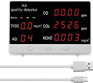 KK moon 空気質測定器 二酸化炭素濃度測定器 多機能 高精度 CO2 HCHO TVOC C O 空気質アナライザーモニター ホルムアルデヒド 測定器