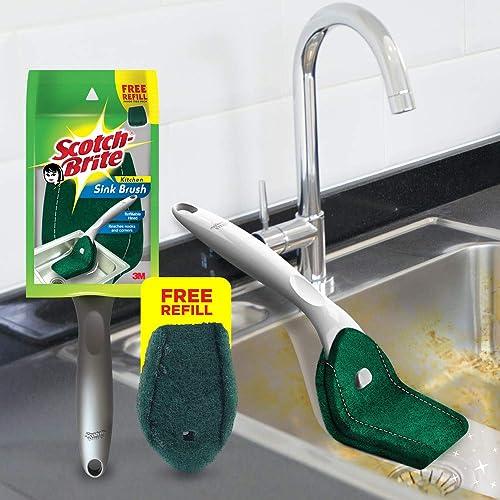 Scotch-Brite Plastic Kitchen Sink Brush (Silver) (Scotch-Brite Kitchen Sink Brush)