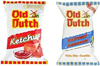 1 Bag of Old Dutch Ketchup Chips and 1 Bag of Old Dutch All Dressed Chips (2 x) Bundle {Imported from Canada}