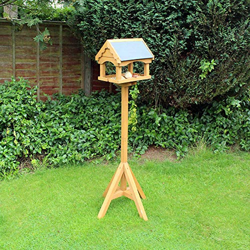 Natures Market BFSLATE1FSC Slate Roof Bird Table, Transparent, 54.5 x 24 x 29.5 cm