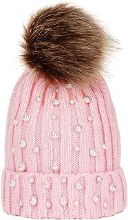 Toddler Baby Boys Girls Winter Knit Hat Pearl Beanie Hairball Warm Cap