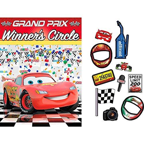 Hallmark - Disney Cars Dream Party Backdrop & Props Kit - Multi-colored