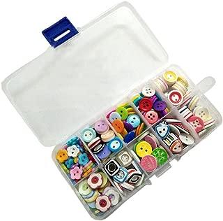 Botones de Resina,Botones Costura 285 Piezas Colores y formas surtidos Botones de Manualidades en Caja de Plástico para Costura Manualidades Scrapbooking y Adornos Hechos a Mano