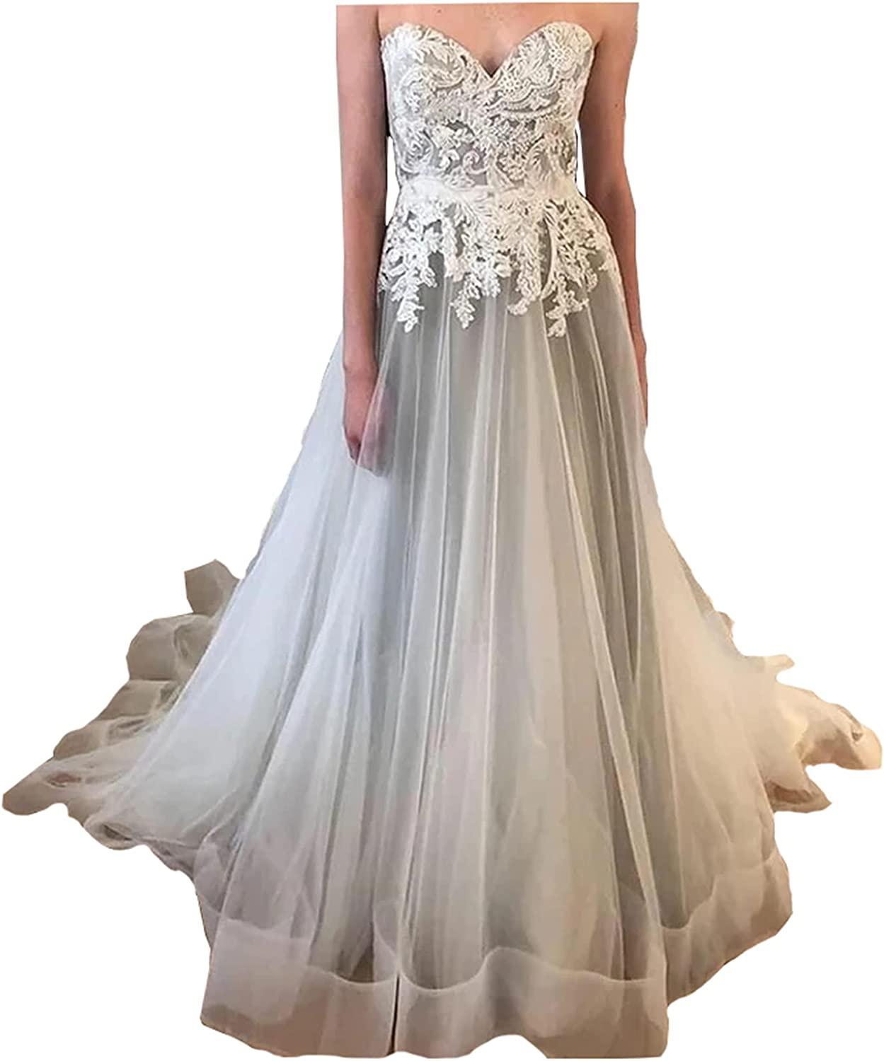 Magdalena Sweetheart Lace up Max 82% OFF Corset Back Ball Long W Gown Special Campaign Bridal
