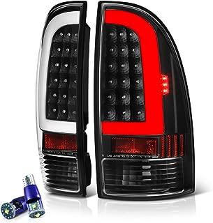[CREE LED Reverse Bulbs] VIPMOTOZ Neon Tube LED Tail Light Lamp Assembly For 2005-2015 Toyota Tacoma - Matte Black Housing, Driver and Passenger Side