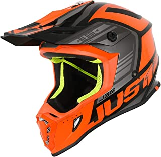 Just1 J38 Blade Motocross Helm Orange/Schwarz L