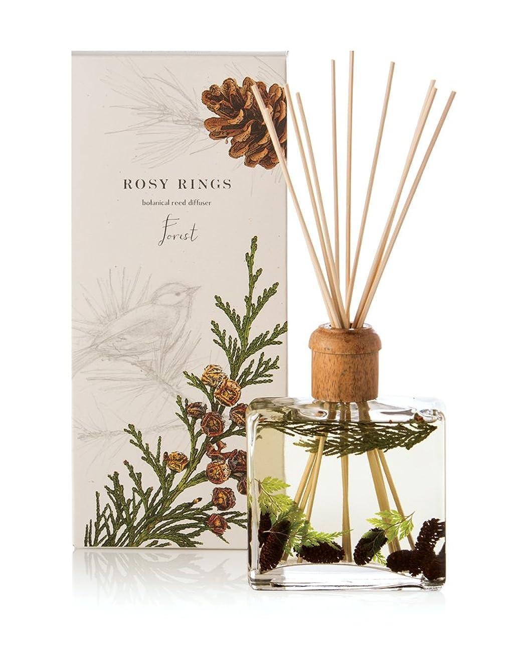 噴火生きる階ロージーリングス ボタニカルリードディフューザー フォレスト ROSY RINGS Signature Collection Botanical Reed Diffuser – Forest