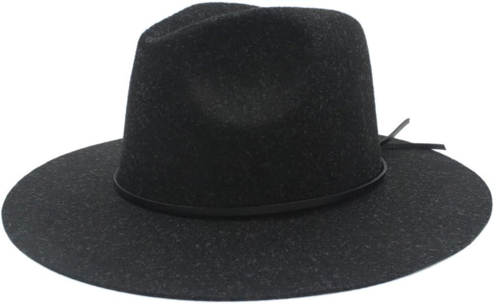 ZLQQLZ Women Cap Wide Brim Winter Autumn Fedora Hat for Elegant Womem Men Top Cloche Panama Church Cap Top Hat Hat (Color : 2, Size : 56-59cm)