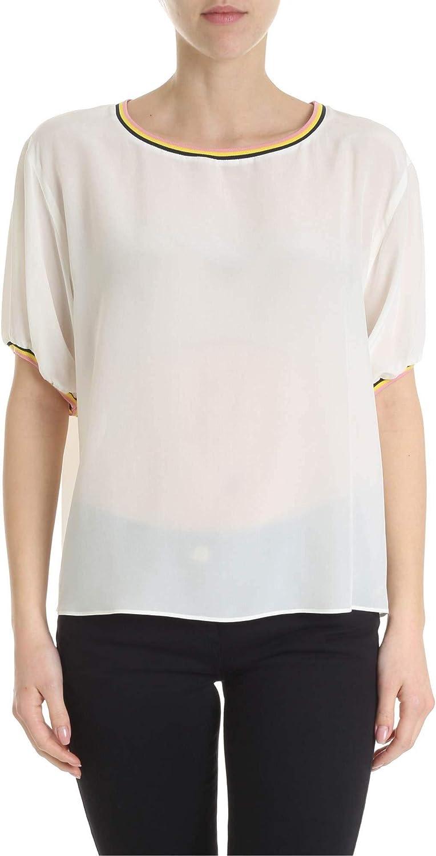 Pinko Women's 1G14067312Z09 White Silk TShirt