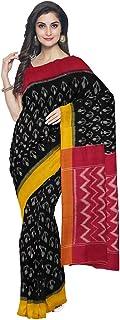 Gocoop Women Cotton Saree With Blouse Piece (GCANICOSAA0264_Black)