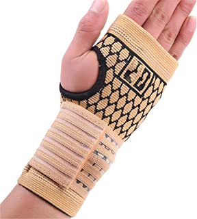 VIOST 1Pc Men and Women Fitness Wrist Guard Arthritis Brace Sleeve Support Glove Breathable Elastic Palm Hand Wrist Supports Protector