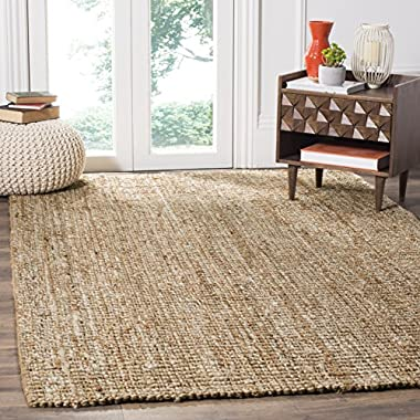 Safavieh Natural Fiber Collection NF447N Hand Woven Natural and Ivory Jute Area Rug (6' x 9')