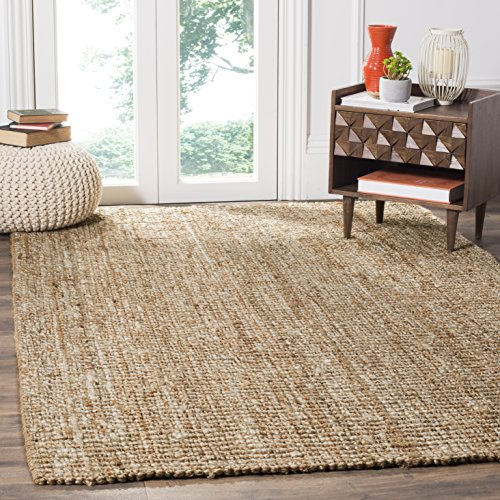 Safavieh Natural Fiber Collection NF447N Handmade Chunky Textured Premium Jute 0.75-inch Thick Area Rug, 8' x 10', Ivory