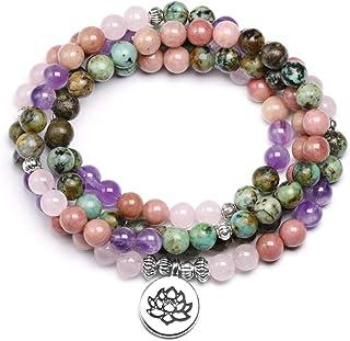 26e1377a8cc58 DUOJINZ Naturel Turquoise avec Rose Quartz Perlé Bracelet Femmes 6 Mm  Bracelet Unisexe Bijoux Cadeau