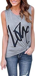 Dubocu Women's Summer Vest Tops Sleeveless Blouse Casual Tank Tops Shirt T-Shirt