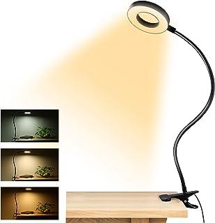 کلیپ چراغ های مطالعه نور ، 48 عدد لامپ میز USB با 3 حالت رنگی 10 روشنایی ، چراغ گیره محافظ کتاب ، چراغ گیره انعطاف پذیر 360 درجه لامپ مخصوص سر میز و کنفرانس ویدیویی