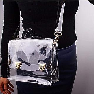 iBoosila - Bolsa de hombro de PVC transparente, impermeable, para mujeres, niñas