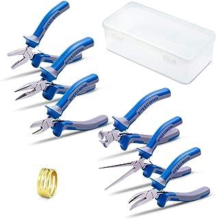 SPEEDWOX Bijoux Lot de 6 PCS de mini pince Pinces Petite fine bijoux Pince kit avec un anneau de jonction Opener Micro Pre...