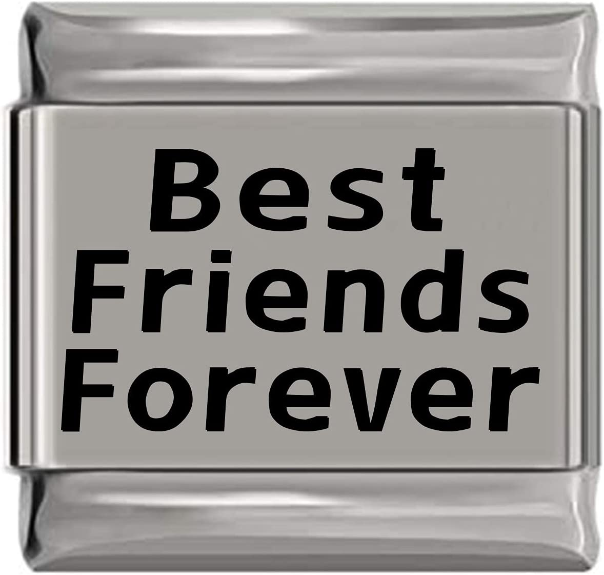 Nippon regular agency Best Friends Forever High quality new Laser Charm Italian Engraved