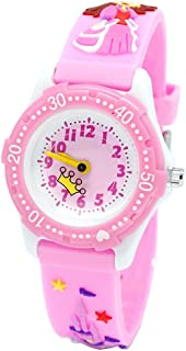 Zhhlaixing Kids Analogue Watches for Boys Girls, 3D Cute Princess Silicone Band Waterproof Quartz Watch Best Gift for Children to Attend School
