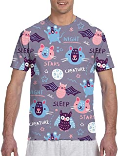 Creative Hand Drawn Tiger Short Sleeve Tee Novelty Teen Unisex T Shirt