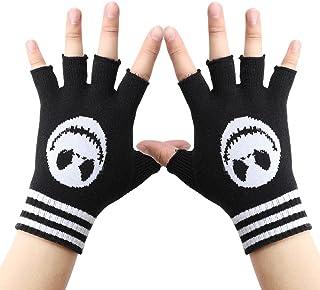 Unisex Stretchy Fingerless Hand Warmer Skeleton Gloves Halloween Accessories for Women Men