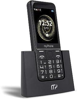 myPhone Halo Q telefon dla seniora ze stacją ładującą, duży wyświetlacz 2,8 cala, mocna bateria 1400 mAh, aparat 2Mpx, duż...