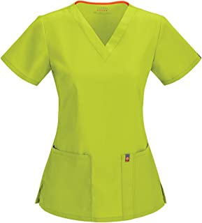 Women's Fit & Flare V-Neck Scrub Top