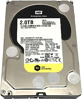 WD RE 2 TB Enterprise Hard Drive: 3.5 Inch, 7200 RPM, SATA III, 64 MB Cache (WD2000FYYZ) (Renewed)
