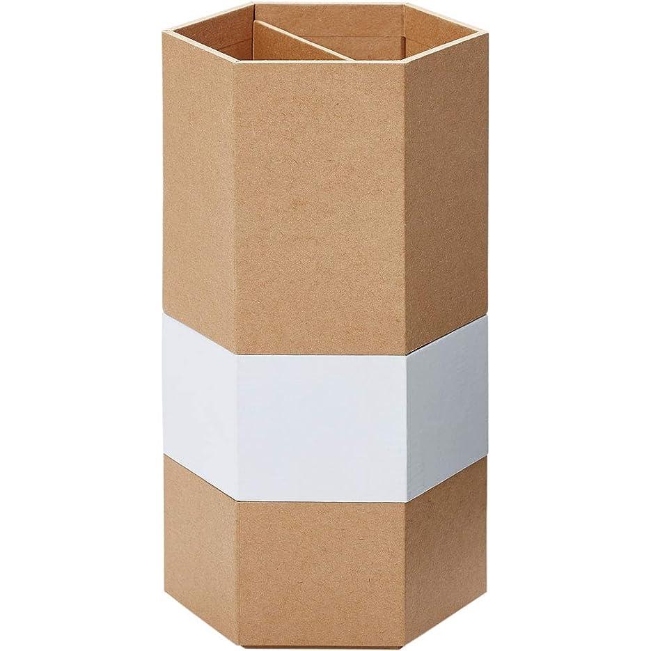 幻滅するアンデス山脈申請者キングジム 小物入れ 重ねる小物入れ&ペン立て 六角形 白 3352RYシロ