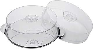 APS - Soporte para Tartas con 2 Fundas, diámetro 30 cm, Altura de Las Fundas, 7 y 10 cm, Acero Inoxidable, con Producto Interior
