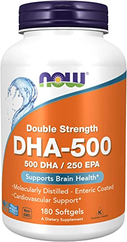 NOW Foods DHA-500, 180 Softgels