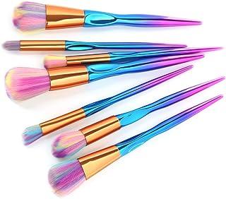 7ハート型のハンドル化粧ブラシスレッドのハンドル明るい色美容ツールセットブラシ(色:明るい色)