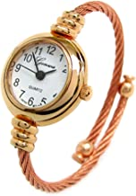 New Rose Gold Cable Band Geneva Women's Petite Bangle Watch
