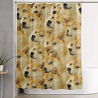 Xingcnn Mr Doge Meme Home Decor Shower Curtain, Contemporary Bathroom Curtain, Easy Care Fabric Shower Curtain Closet and Bathtub with Reinforced Buttonholes