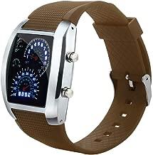 Men's Sports Watch Speedometer Style LED Digital Calendar Wrist Cool Watch Unique Watch Fashion Watch
