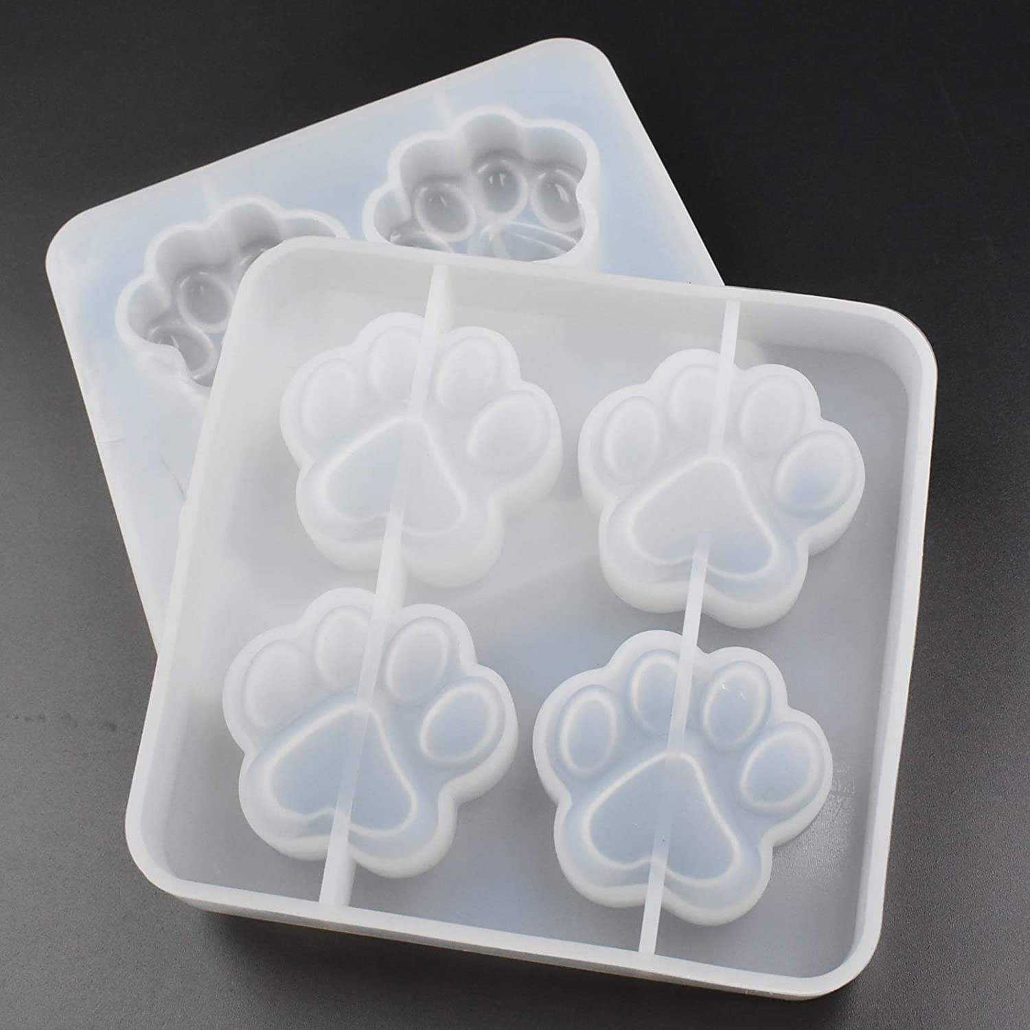 Pack of 2 Cat Paws Shape Epoxy 25% OFF Bombing new work C Resin Mold Footprint Catie Cute