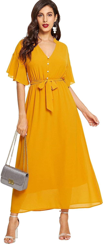 Milumia Women's Boho Split Max 42% OFF Tie-Waist Limited time sale Vintage Maxi Dress Print