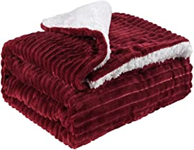 Flannel Blanket with Pompom Fringe Throw Size Luxury Microfiber Soft Throw 152 * 127CM Fluffy Solid Throw Blanket for Couc...
