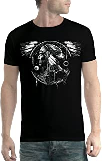 avocadoWEAR Indio Americano Espíritu Halcón Hombre Camiseta XS-5XL