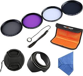 K&F Concept 58mm UV CPL FLD ND4 Kit de Filtro para la Lente Filtro Accessorios para Canon EOS 600D 700D 100D 1100D 1200D 650D DSLR Cámaras con Lentes de 18-55mm + Microfibra Paño de Limpieza de la Lente + Pétalo Lentes Capucha + Centro de Pellizco Tapa Del Objetivo + Cap Guardián + Bolsa de Filtro