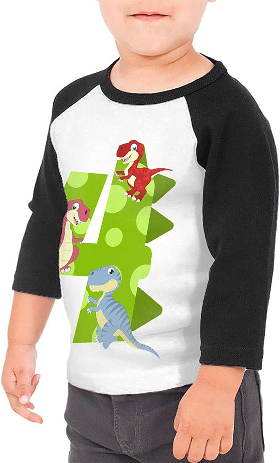 4th Dinosaur Trex T-Shirts Novelty for Youth Tees with Cool Designs