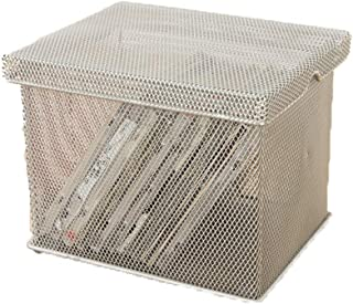 Lwieui Caja de Almacenamiento de CD Malla de Metal CD Cuadro Titular Organizador del Recipiente de Almacenamiento de DVD O...