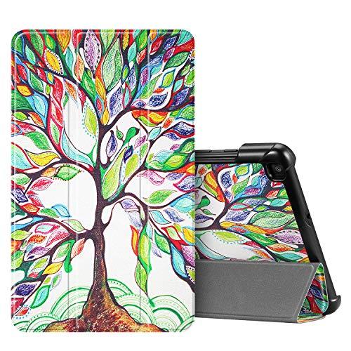 FINTIE SlimShell Case voor Samsung Galaxy Tab A 8.0 2019 (SM-T290 / SM-T295), Super dun lichtgewicht magnetische standaard cover voor Samsung Galaxy Tab A8 8-inch tablet, Z -Liefde Boom