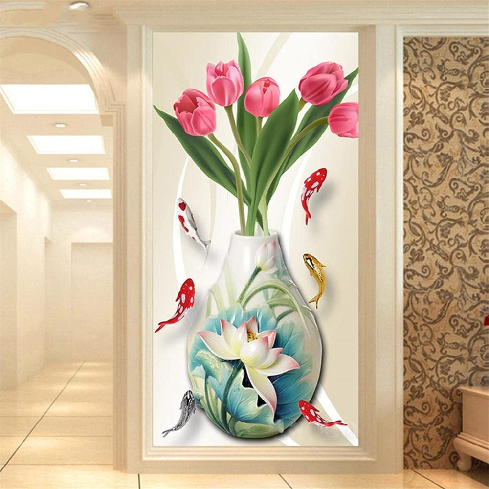 Diamond New Free Shipping Painting kit Flowers Fish DIY 5D Brand new for Art Ad Kits