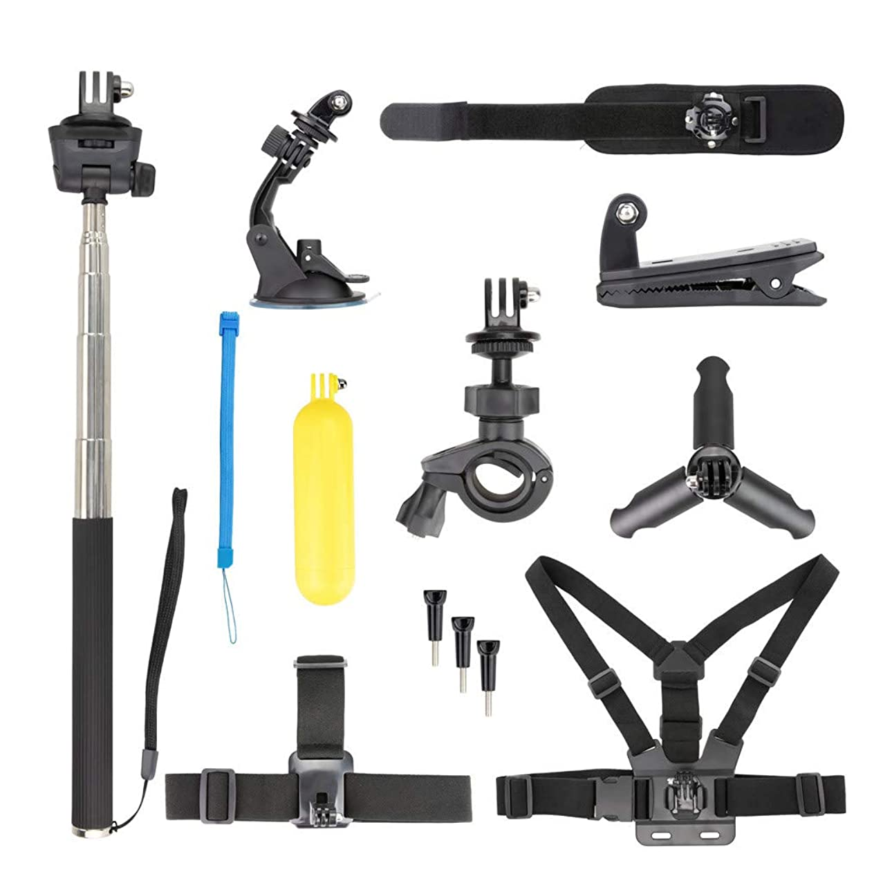 Ackful??Sports Cam Accessories Kit Bundle for DJI OSMO Action Camera Accessories