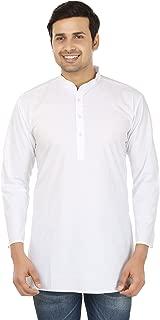 Maple Clothing Men's Cotton Short Kurta Dress Shirt Indian Fashion Clothing