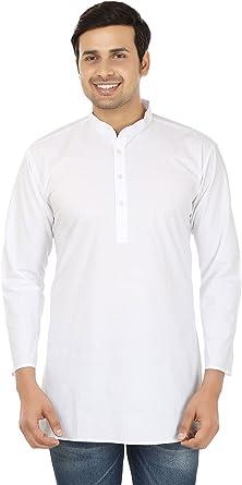 Maple Clothing Algodón para hombre corto Kurta camisa India ropa de moda