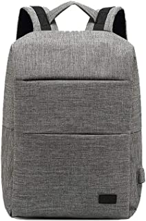 Djyyh Backpack Business Bag Male Backpack Large Capacity Computer Packet (Color : Gray)